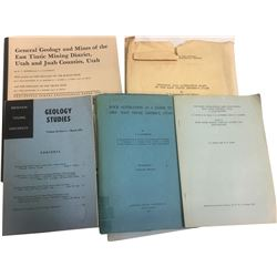East Tintic, UT Mining and Geology Booklets and Maps  (86671)