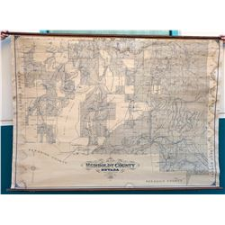 Humboldt County. NV Mines Map on Linen  (23515)