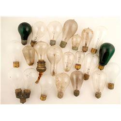 Antique Light Bulbs / 21 Pieces.   (61478)