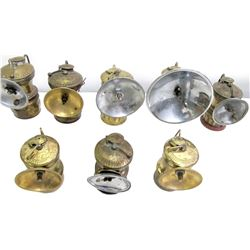 4 Butterfly and 4 Autolite Carbide Lamps  (86613)