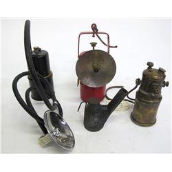 Underground Miner Lamps (4)  (88379)