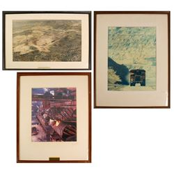 3 Large Framed Kennecott Copper Photos  (76825)