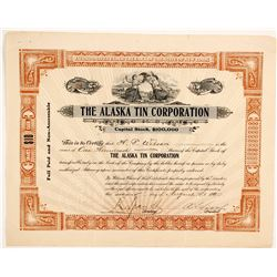 Alaska Tin Corporation Stock  (88073)