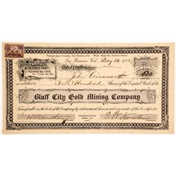 Bluff City Gold Mining Company Stock  (88076)
