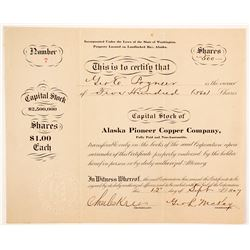 Alaska Pioneer Copper Company Stock  (88068)