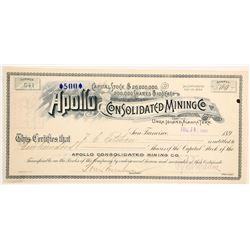 Apollo Consolidated Mining Company Stock  (88075)