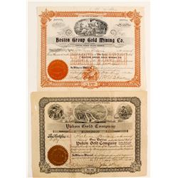 Two 'Gold' Mining Stock Certificates  (88063)
