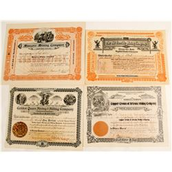 Dragoon District Stock Certificates (4 count)  (62974)