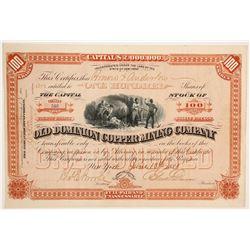Old Dominion Copper Mining Company Stock  (88025)