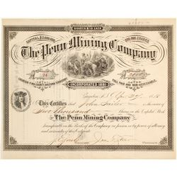The Penn Mining Company Stock Certificate  (62278)