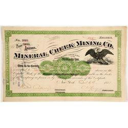 Mineral Creek Mining Company Stock  (88007)