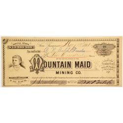 Mountain Maid Mining Company Stock  (88020)