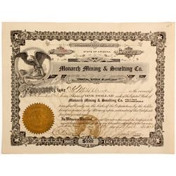 Monarch Mining & Smelting Co. Stock Cert.  (56935)