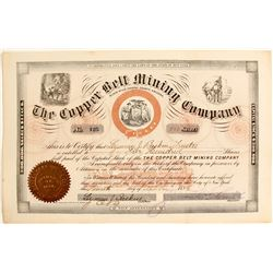 Copper Belt Mining Company Stock Certificate  (62960)