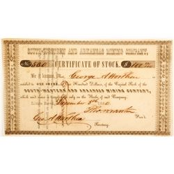 South-Western and Arkansas Mining Company Stock Certificate  (60265)