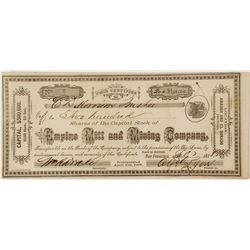 Empire Mill and Mining Co. Stock Certificate  (58328)