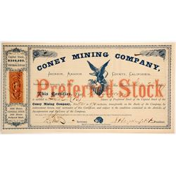 Coney Mining Company Stock  (88143)