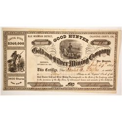 Good Hunter Gold and Silver Mining Company  (86051)