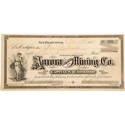 Aurora Tunnel and Mining Company Stock Certificate  (60250)