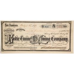Bodie Tunnel and Mining Company Stock - GT Brown Certificate  (86138)