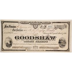 Goodshaw Mining Company Stock by Grafton T. Brown Lithographer  (86146)