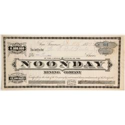 Noonday Mining Company Stock  (86145)