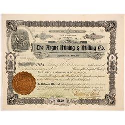 Argus Mining & Milling Company Stock  (86173)