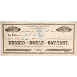 Desert Borax Company Stock  (86774)