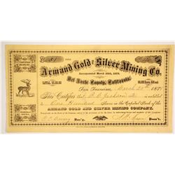 Armand Gold and Silver Mining Company Stock  (86165)