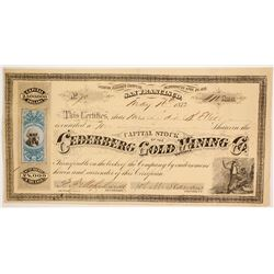 Cederberg Gold Mining Company - Lithograph by GT Brown  (86163)