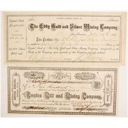 Two El Dorado County Stocks  (86772)