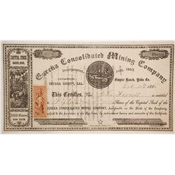 Eureka Consolidated Mining Company Stock  (86043)