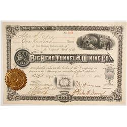 Big Bend Tunnel & Mining Company Stock  (86771)