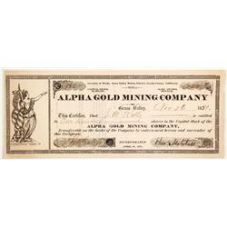 Alpha Gold Mining Company Stock  (88079)