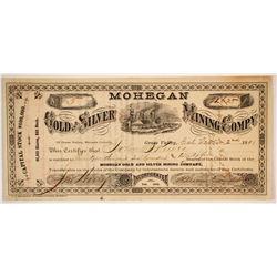 Mohegan Gold and Silver Mining Company Stock  (86178)