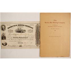 Rocky Bar Mining Company Stock, History and 1850 Prospectus Facsimile  (86041)