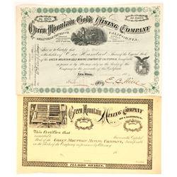 Green Mountain Gold Mining Company Stock  (86703)