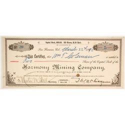 Harmony Mining Company Stock  (86712)