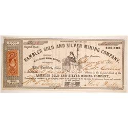 Rambler Gold and Silver Mining Company Stock  (86057)