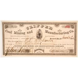 Clipper Coal Mining and Manufacturing Company Stock  (86156)