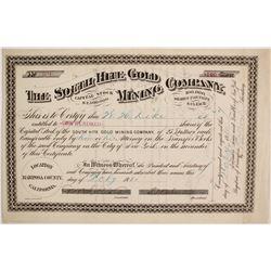 Rarer Variety of South Hite Gold Mining Company Stock  (86777)