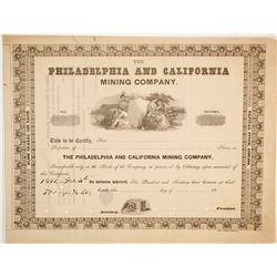 Philadelphia and California Mining Company Stock  (86037)