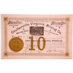 Coulterville, Virginia, Mining Company Stock  (88102)