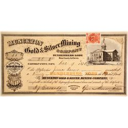 Munckton Gold & Silver Mining Company Stock  (86060)