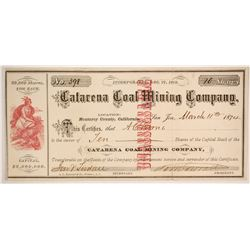 Catarena Coal Mining Company Stock  (86155)