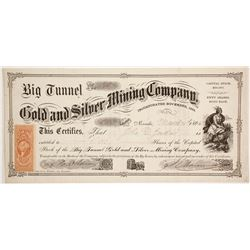 Big Tunnel Gold and Silver Mining Company Stock  (86044)