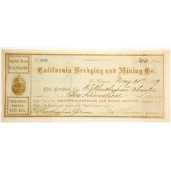 California Dredging & Mining Company Stock Certificate  (60142)
