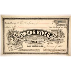 Owens River Mining and Smelting Company Stock  (86702)