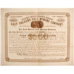 East Orleans Gold Mining Company Bond  (86775)