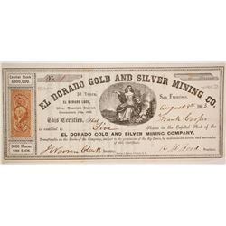 El Dorado Gold and Silver Mining Company Stock - NUMBER 1  (80314)